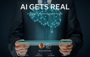 """""""AI Gets Real"""" magazine cover"""