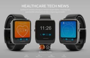 """Healthcare Tech News"" magazine cover"