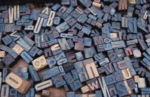 metal type - letters