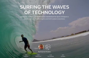 """""""Surfing the Waves of Technology"""" magazine cover"""